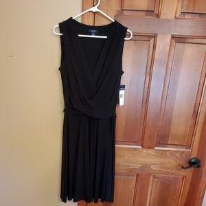 Elegant, black Chaps dress, NWT, size Large
